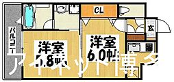 福岡県福岡市博多区博多駅南2丁目の賃貸マンションの間取り