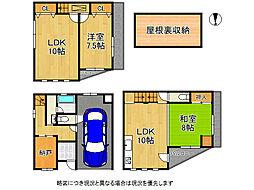 大阪市平野区喜連東5丁目 中古一戸建て 3SLDKの間取り