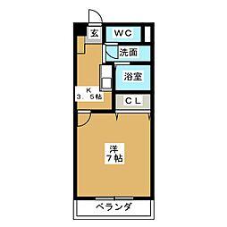 ファースト・フジ21[3階]の間取り