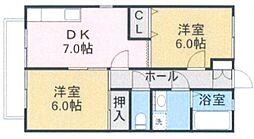 メゾン山王A棟[1階]の間取り