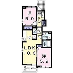 プチメゾンff II[1階]の間取り