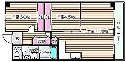 阪神ハイグレードマンション7番館[8階]の間取り