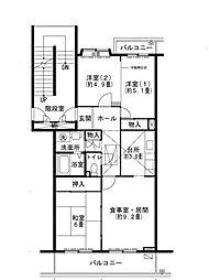 UR小金台[1階]の間取り