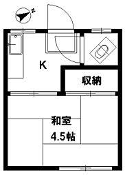 三栄荘[2階]の間取り