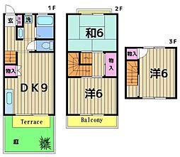 [テラスハウス] 東京都足立区神明南1丁目 の賃貸【/】の間取り