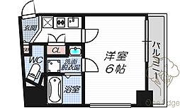 Luce Shinfukushima 4階1Kの間取り
