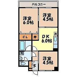 長崎県長崎市柳田町の賃貸マンションの間取り