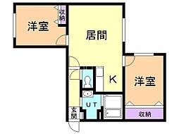 casa otto 4階2LDKの間取り