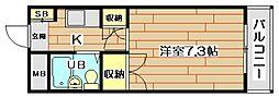 大阪府高槻市宮田町3丁目の賃貸アパートの間取り
