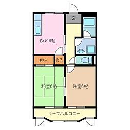 三重県鈴鹿市道伯2丁目の賃貸マンションの間取り