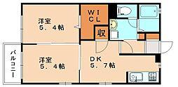 アーバンアネックスC[2階]の間取り