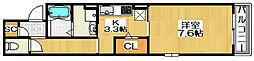 メゾンルシエル[3階]の間取り