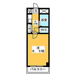 エステートミュウ博多[4階]の間取り