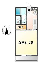 ロイヤルハートピア郷津 B棟[5階]の間取り