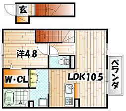 エスポワール モモ[2階]の間取り
