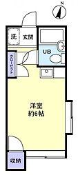 第一ハイツホワイト[2階]の間取り