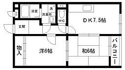 カスタム加島II[102号室]の間取り