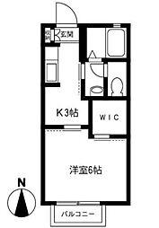 アスファリア中浦和[2階号室]の間取り