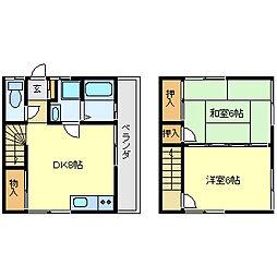 広島県呉市阿賀北5丁目の賃貸アパートの間取り