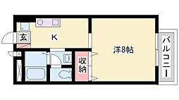 兵庫県加古郡播磨町北本荘3丁目の賃貸アパートの間取り