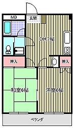 アユミビル[402号室]の間取り