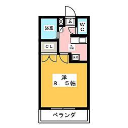 カレッジハイツ六反田[1階]の間取り