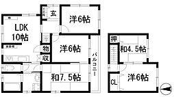 [一戸建] 兵庫県宝塚市千種4丁目 の賃貸【/】の間取り