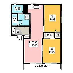 エピローグ.K B棟[1階]の間取り