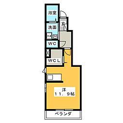 カサボニータ[1階]の間取り