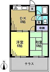 ピアーチェ・ウチムラpart3[102kk号室]の間取り