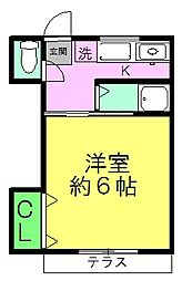 竹屋コーポ[2階]の間取り