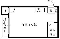 シャンタルⅡ[203号室]の間取り