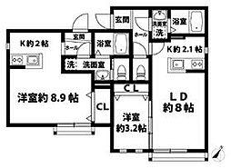 ゆうなぎ荘[101号室号室]の間取り