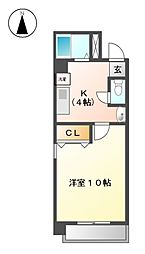 クレア垣戸[3階]の間取り
