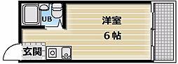 メロディーハイム小阪[1階]の間取り