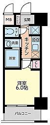 Live Casa本町 8階1Kの間取り