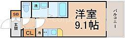 UURコート大阪十三本町[4階]の間取り