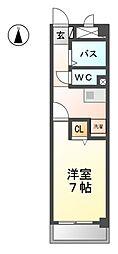 愛知県稲沢市松下1丁目の賃貸マンションの間取り
