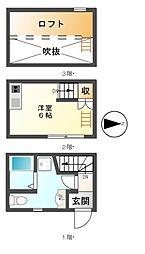 ラ・ルーチェ鶴田[1階]の間取り