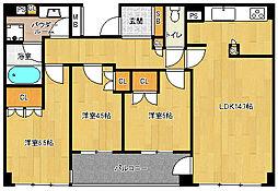 「パークホームズ堺町御門」[4階]の間取り