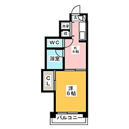 第7西田ビル[4階]の間取り