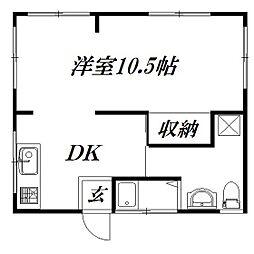 [一戸建] 静岡県浜松市中区上島6丁目 の賃貸【/】の間取り
