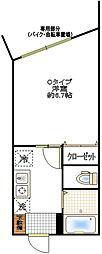 コンフォート東浦和[103号室]の間取り