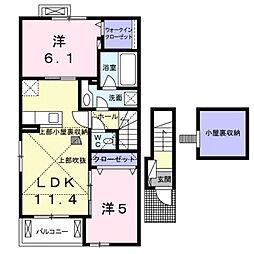 ベラ・ルーチェA[2階]の間取り
