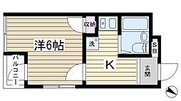 クレセンスビル2[2階]の間取り