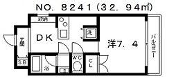 ジリオ大阪城南[4階]の間取り