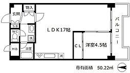おおきに大阪天満サニーアパートメント(旧称:サムティプリンス[1階]の間取り