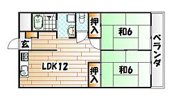 第2廣木興産ビル[4階]の間取り