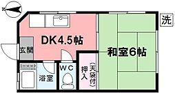 たつみ荘(上井草)[101号室]の間取り