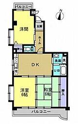 コンフォール高蔵寺[3B号室]の間取り